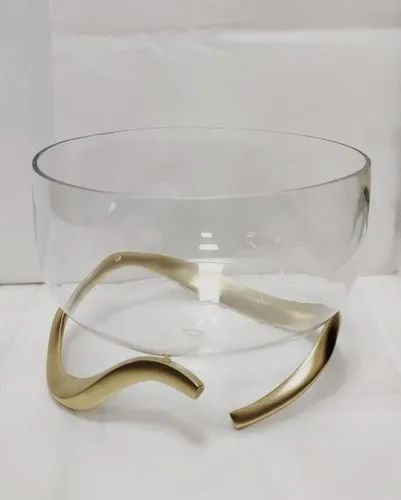 Aluminium Golden Decorative Bowl