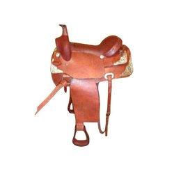 Brown Western Horse Saddle