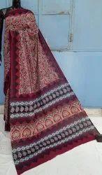Latest Natural Bagru Hand Block Printed Cotton Saree