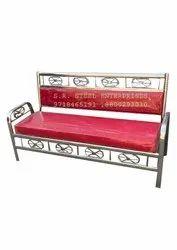 Stainless Steel Three Seater Sofa