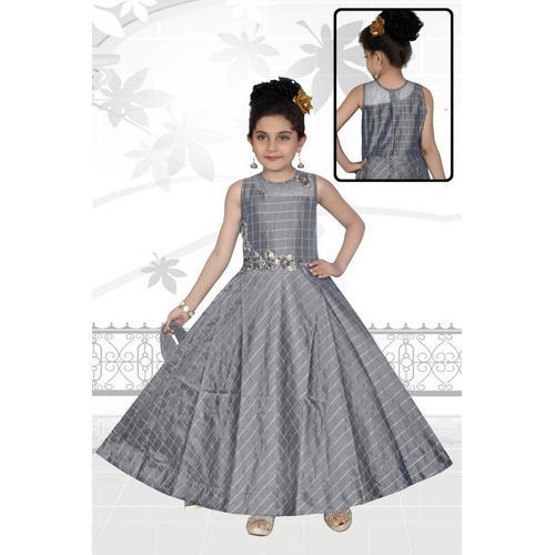 c7958b91d1e46 Party Wear Embroidered Kids Gown, Size: Small, Rs 895 /piece | ID ...