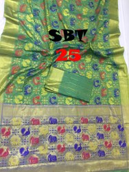 Saree: Ikkat Work Saree