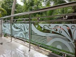 SS With Glass Handrail Work