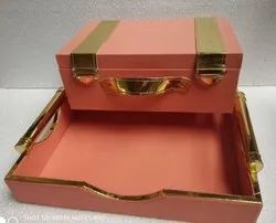 Peach Rectangle Wooden Gift Box