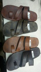 Open Toe Casual Leather Slippers, Size: 6,7,8,9