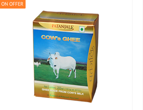Patanjali Cow Ghee, Packaging Type: Box