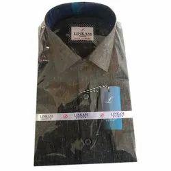 Goodluck Plain Men Cotton Casual Shirt, Packaging Type: Box
