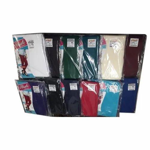 Khusi Ladies Plain Cotton Legging, Size: XL, Packaging Type: Packet