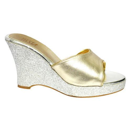 Silver Trendy Wedges Sandals