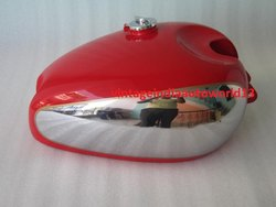 New Panther M100 M120 Chrome And Red Painted Gas Fuel Petrol Tank With Cap