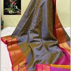 Tanchui Kora Muslin Silk Saree