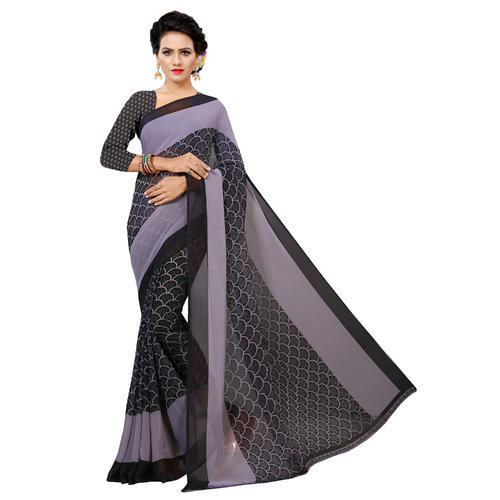 4ae7ad275c2 Vimalnath Synthetics Chiffon Solid Fashion Saree With Blouse Piece ...