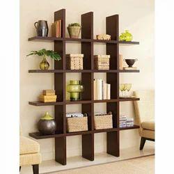 brown wood designer book self rs 7500 piece vishnupriya rh indiamart com