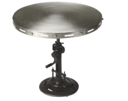 Industrial Chic Crank Accent Table