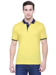 Plain Half Sleeves Dry Fit Polyester Collar T-Shirt, Packaging Type: Packed In Courier Bag
