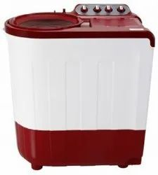 Whirlpool 8 kg Semi Automatic Top Load Washing Machine, ACE SUPERSOAK, Red & White