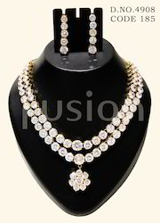 American Diamond Wedding Necklace Set