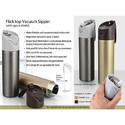 Flick Top Vacuum Sipper Water Bottle