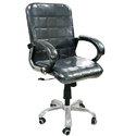 Rotatable Leather Seat Black Office Chair