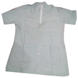 Grey Cotton Lab Coat