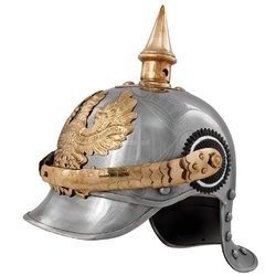 German Pickelhaube Silver Helmet