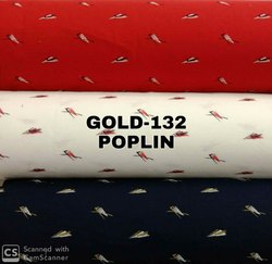 Poplin Cotton Printed Shirting Fabric,