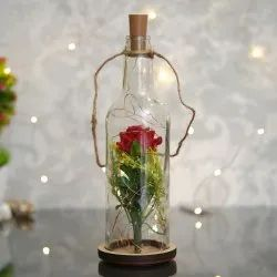 Fabric Glass Beauty LED Artificial Rose