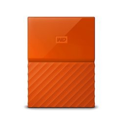 WD My Passport 2TB Portable External Hard Drive (Orange)