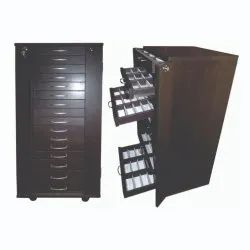 Optical Eyeglasses Sunglass Storage Drawer Cabinet Trolley