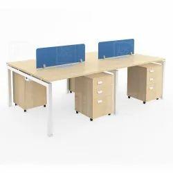 Office Desking With Metal Legs