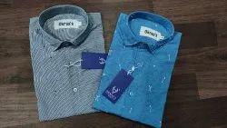 Cotton, Lycra Men Casual Shirts, Size: Medium, Large And Extra Large