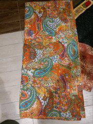 Kantha Bed Cover Screen Print
