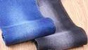 Blue Knitted Denim Fabric