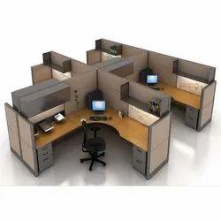 Wooden Modular Office Workstation