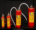 Red Dcp Type Fire Extinguisher