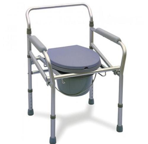 adjustable height chair. Adjustable Height Commode Chair I