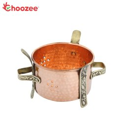 Choozee - Copper Brass Food Warmer Angeethi (Traditional Sigdi) for Home & Restaurant