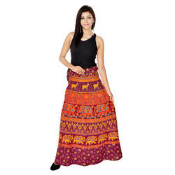 Barmeri Cotton Wrap Skirt