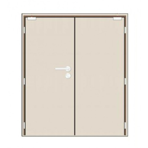 Light Brown Double Leaf Fire Rated Door