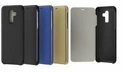 Gold Samsung J8 Flip Cover