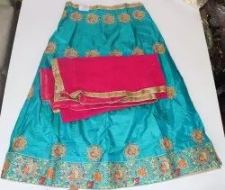 Party Wear Butta Work Silk Lehenga