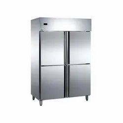 Electricity Stainless Steel Four Door Vertical Refrigerator, Capacity: 1200 L