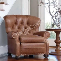 Brown Leather Lounge Chair