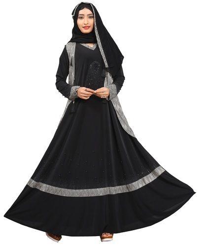 Designer Islamic Clothing | Silver Lycra Stretchable Stylish Islamic Wear Embossed Jacket Style