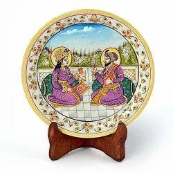 Mumtaj Shahjahan Gold Marble Painting 394