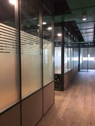 Half Glass Half Solid Partitions