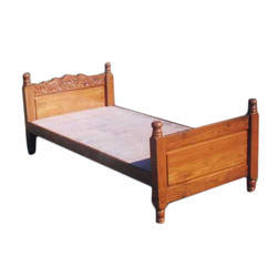 Ahmed Wooden Furnitures Wooden Single Bed