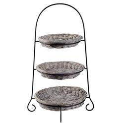 Wicker Metal Oval Tray Stand, Size: 50 Inches