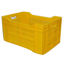 HDPE Yellow Plastic Crate