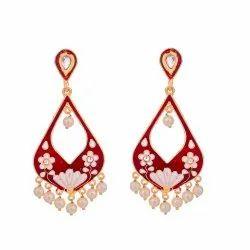 Red Meena Earring